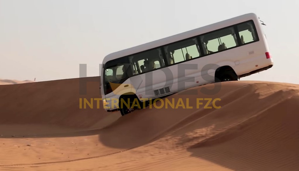 New Toyota Coaster 4,2L Diesel Converted to 4×4, Four-Wheel Drive for Desert and Highlands 2020 Model